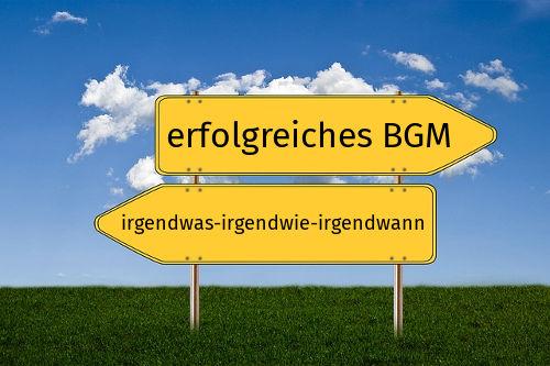 Wegweiser zu Ihrem erfolgreichen BGM